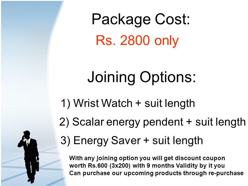 Package Cost: Joining Options: Rs. 2800 only