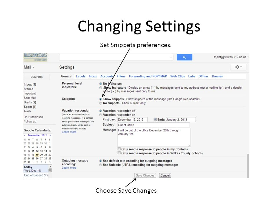 Changing Settings Set Snippets preferences. Choose Save Changes