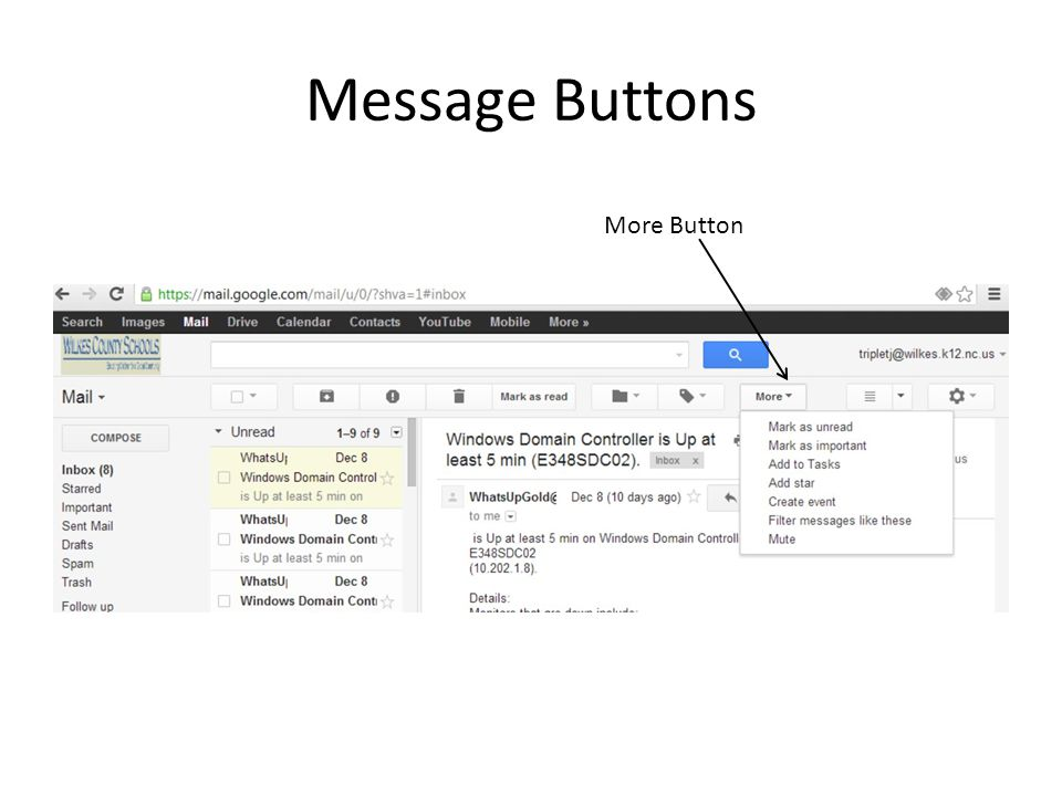 Message Buttons More Button