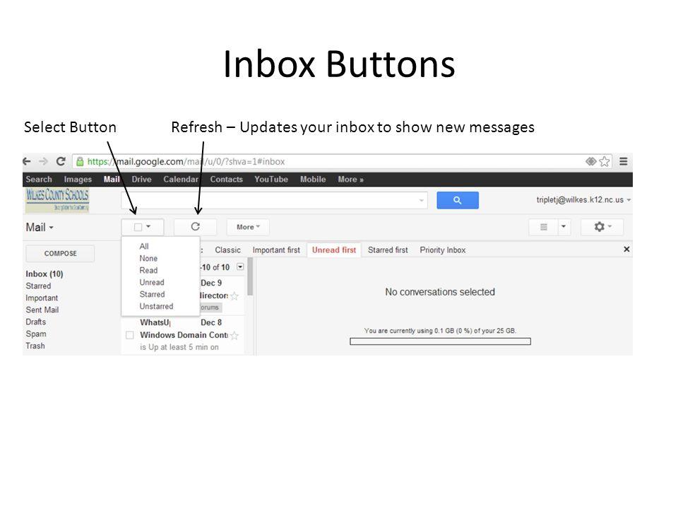 Inbox Buttons Select Button