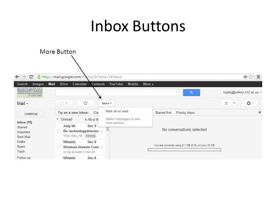 Inbox Buttons More Button