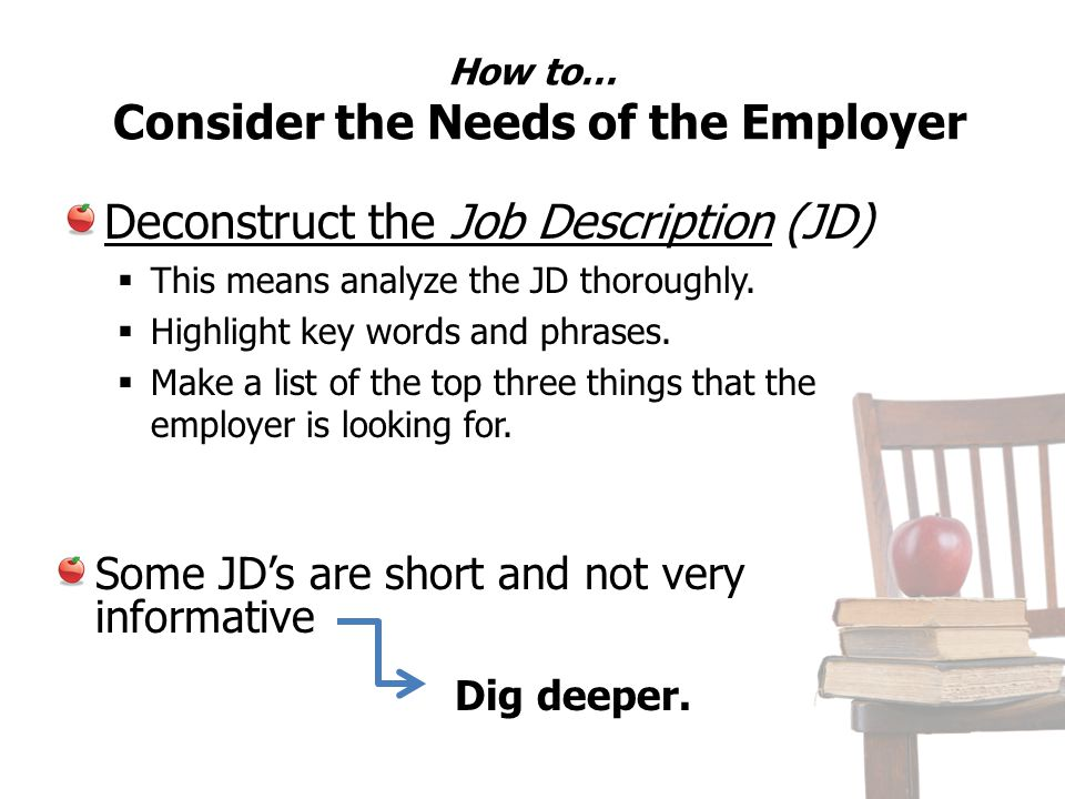 How to… Consider the Needs of the Employer