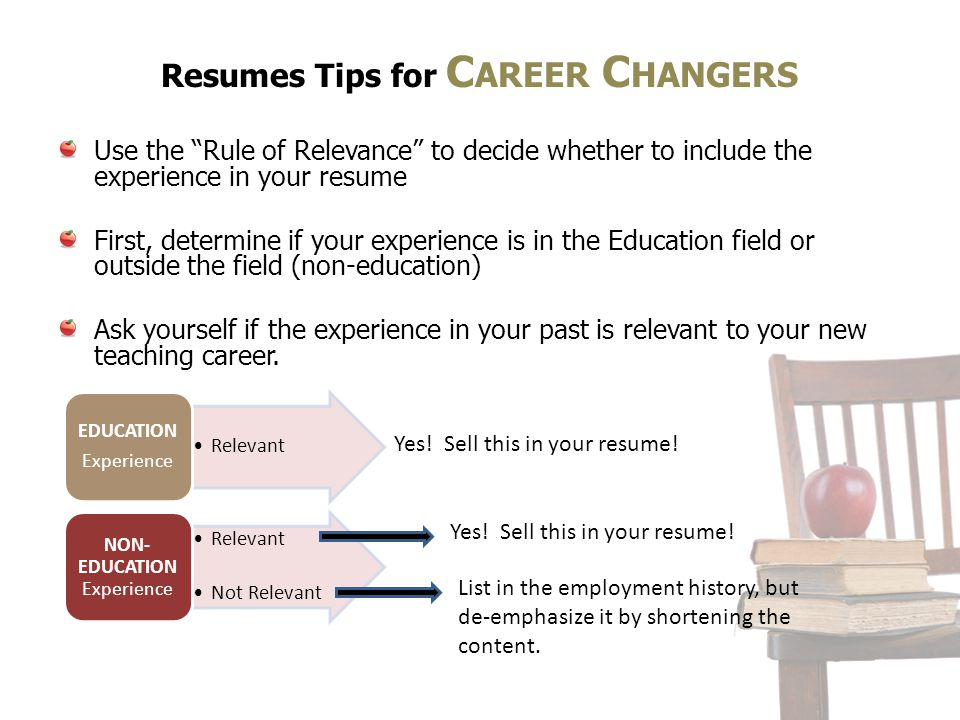 Resumes Tips for Career Changers