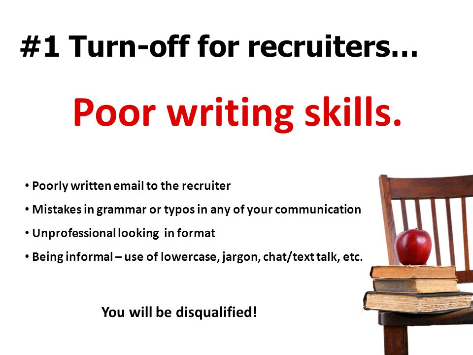 #1 Turn-off for recruiters…