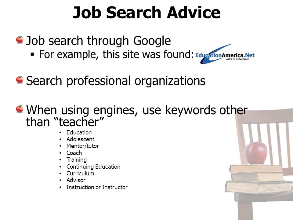 Job Search Advice Job search through Google