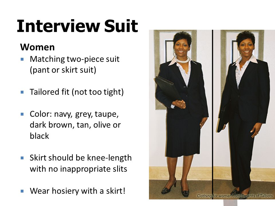 Interview Suit Women Matching two-piece suit (pant or skirt suit)