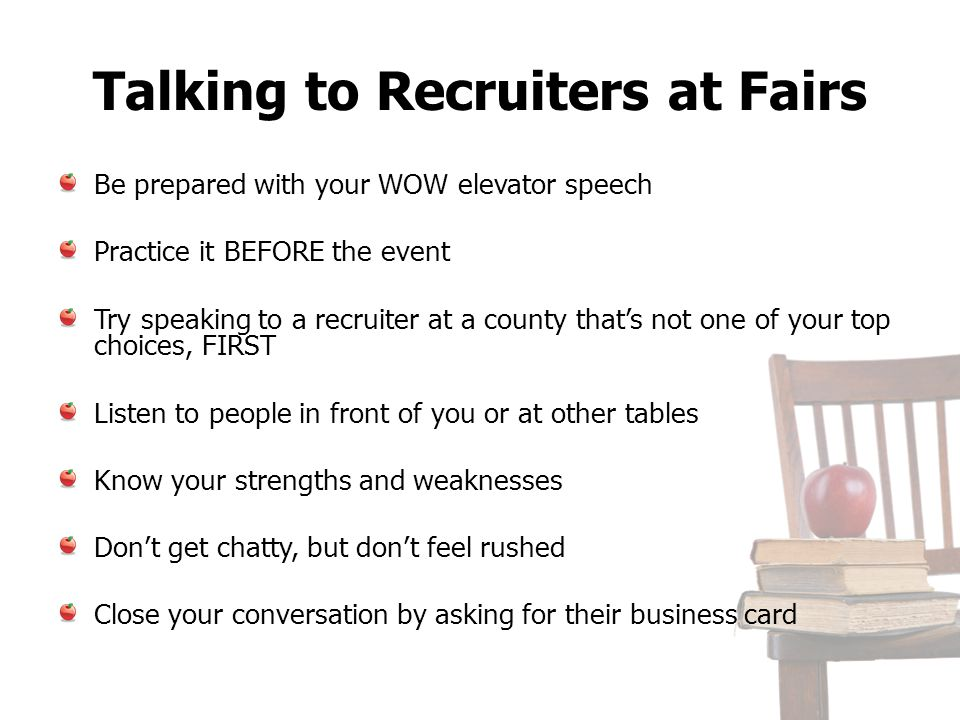 Talking to Recruiters at Fairs