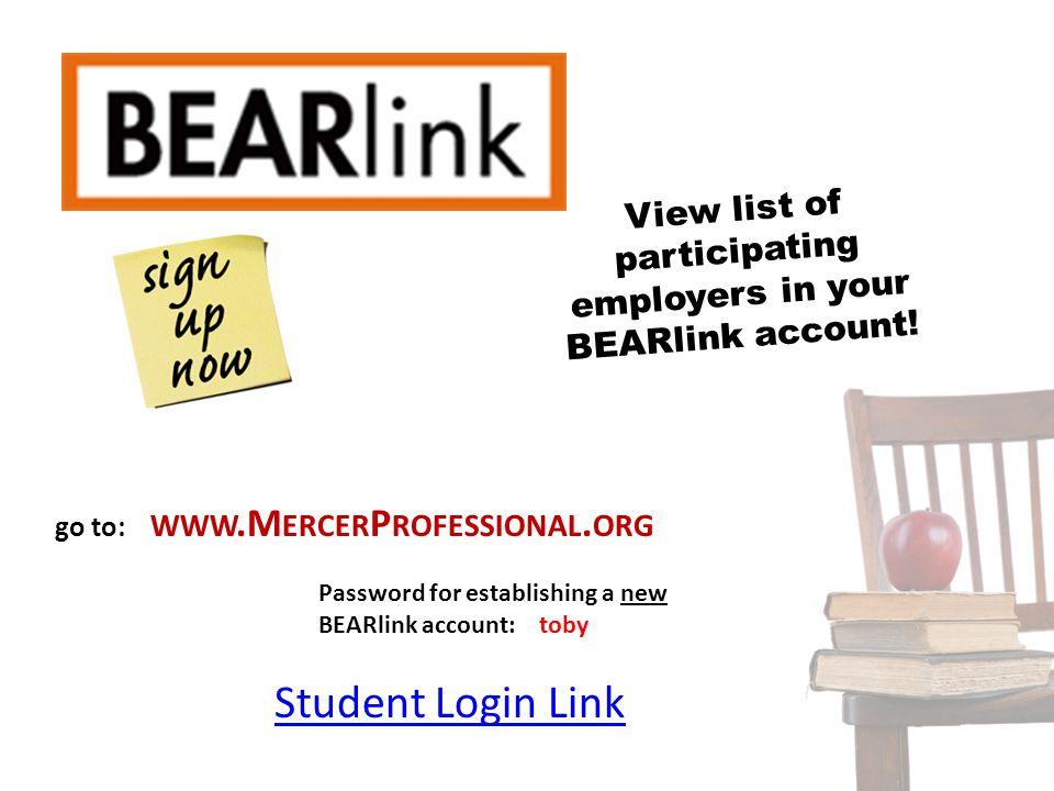 View list of participating employers in your BEARlink account!