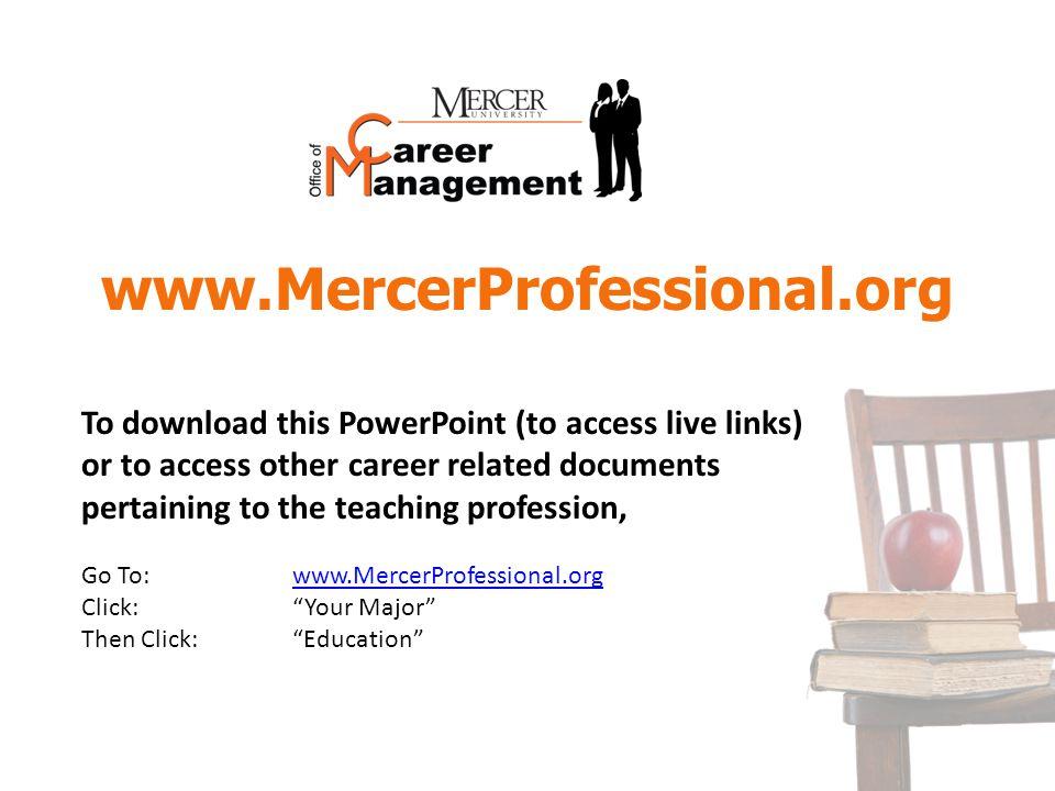 www.MercerProfessional.org