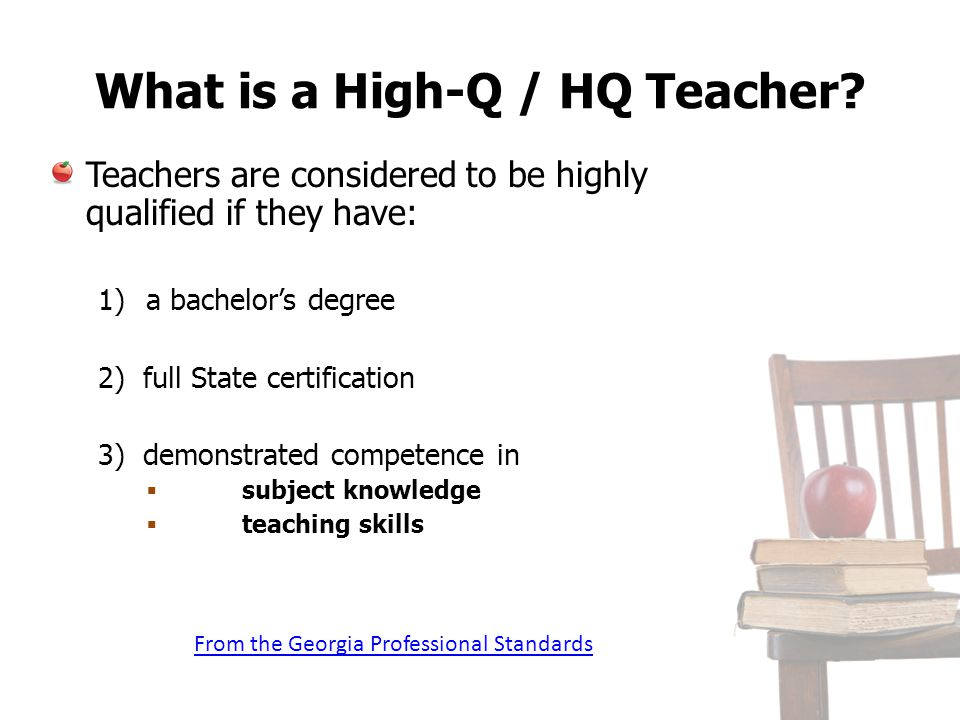 What is a High-Q / HQ Teacher