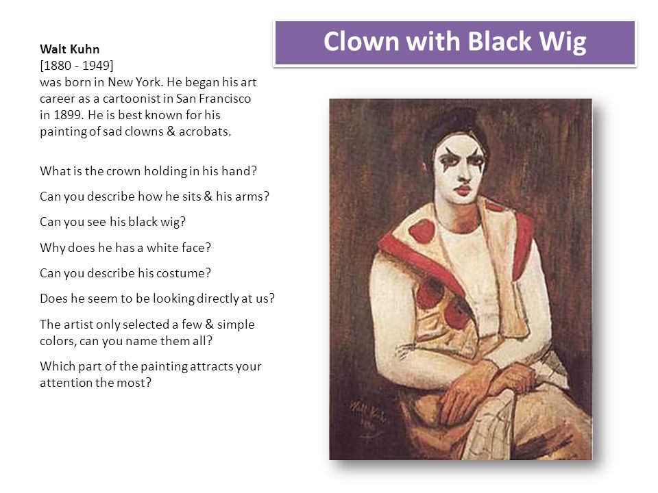 Clown with Black Wig