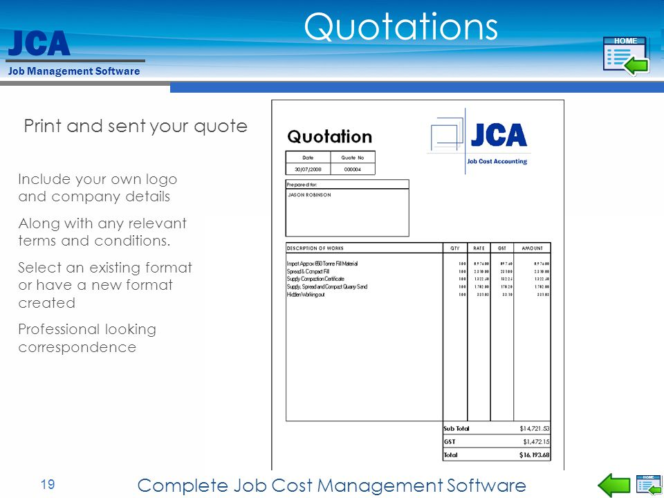 Complete Job Cost Management Software
