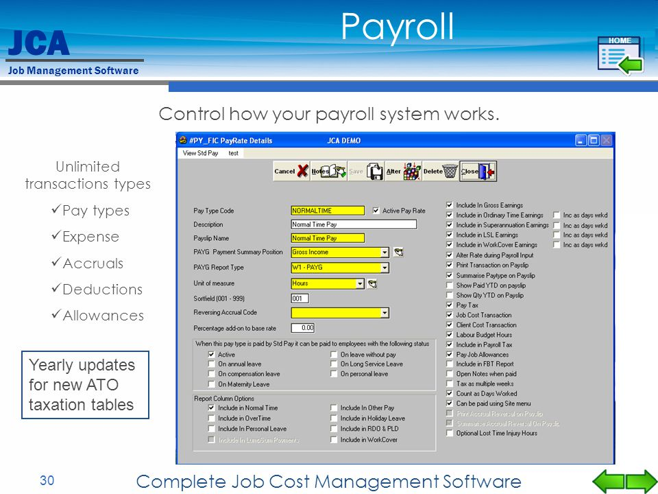 Payroll Control how your payroll system works.