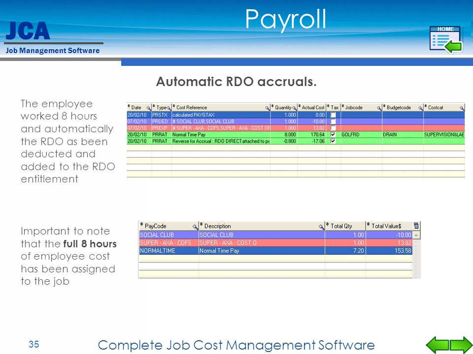 Automatic RDO accruals.