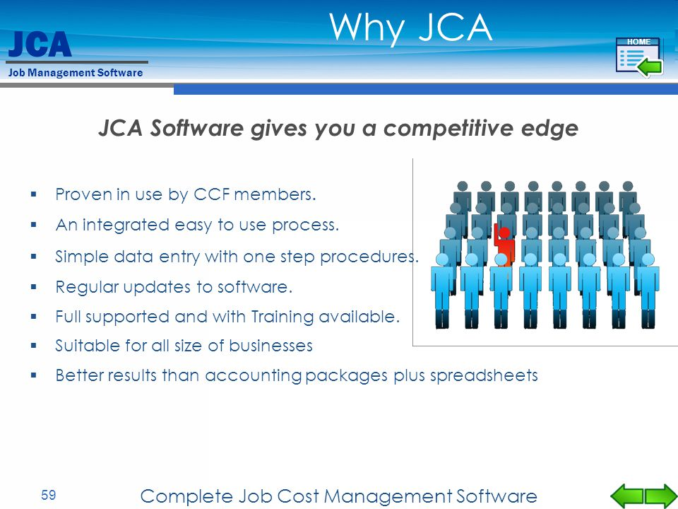JCA Software gives you a competitive edge