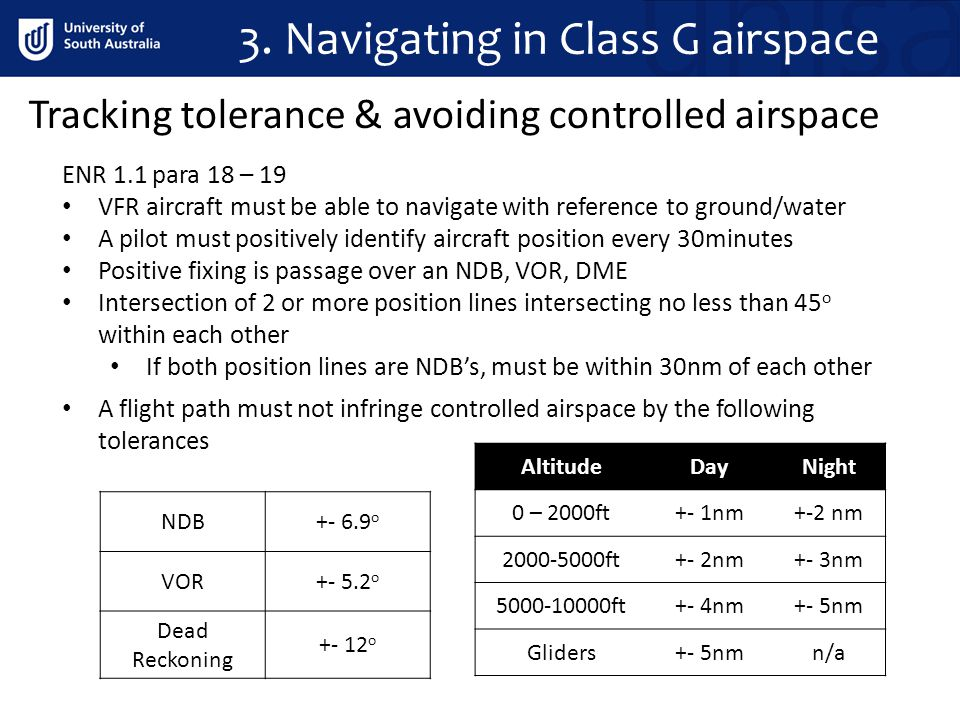 3. Navigating in Class G airspace