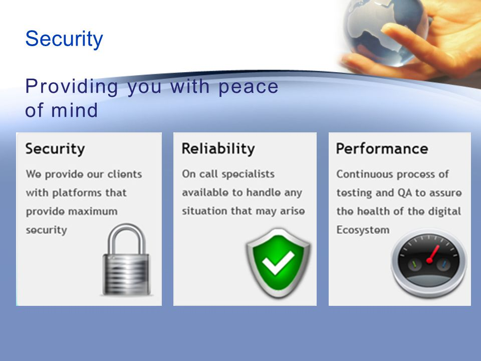 Security Providing you with peace of mind