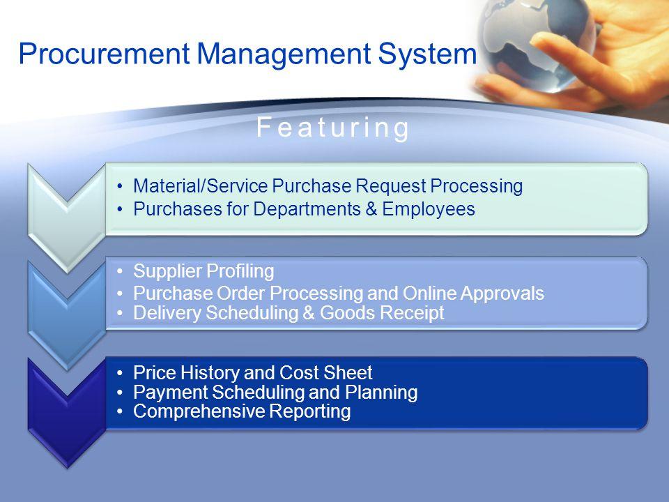 Procurement Management System