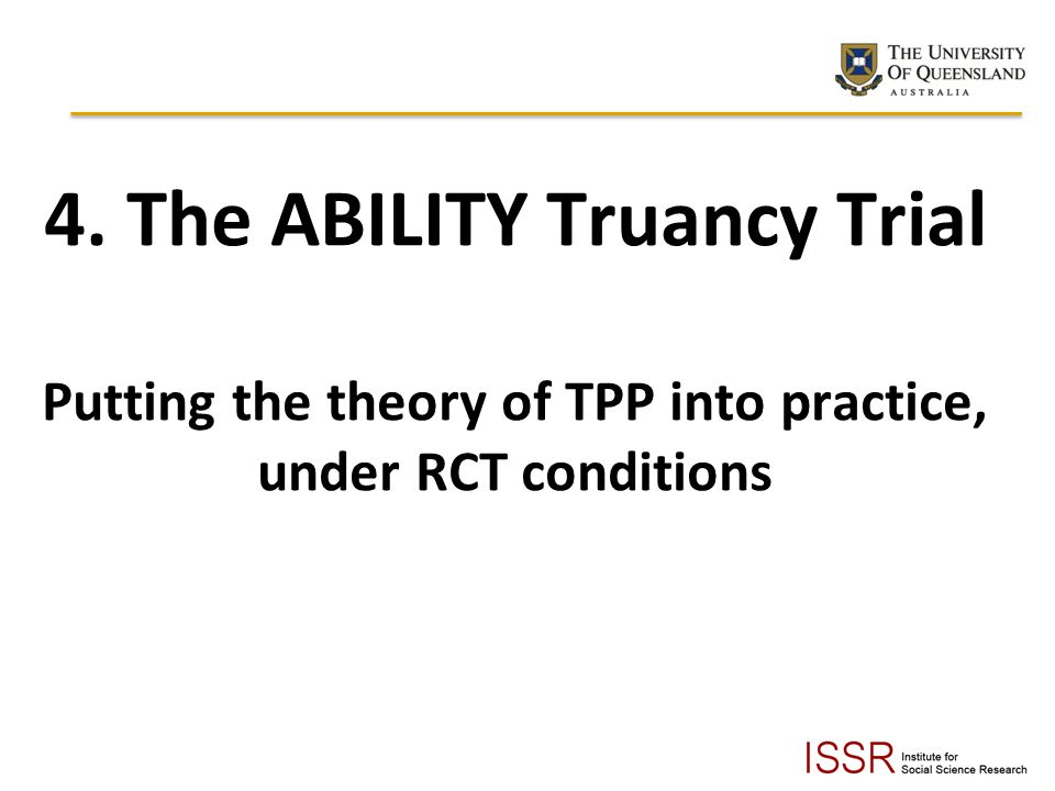 4. The ABILITY Truancy Trial