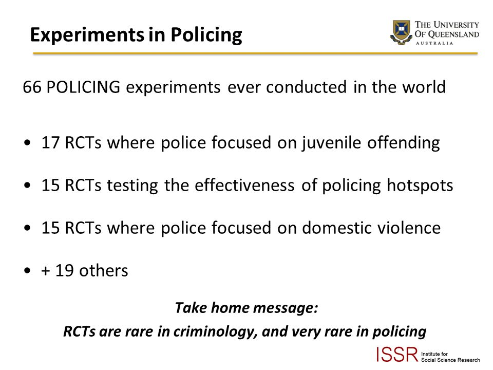 Experiments in Policing