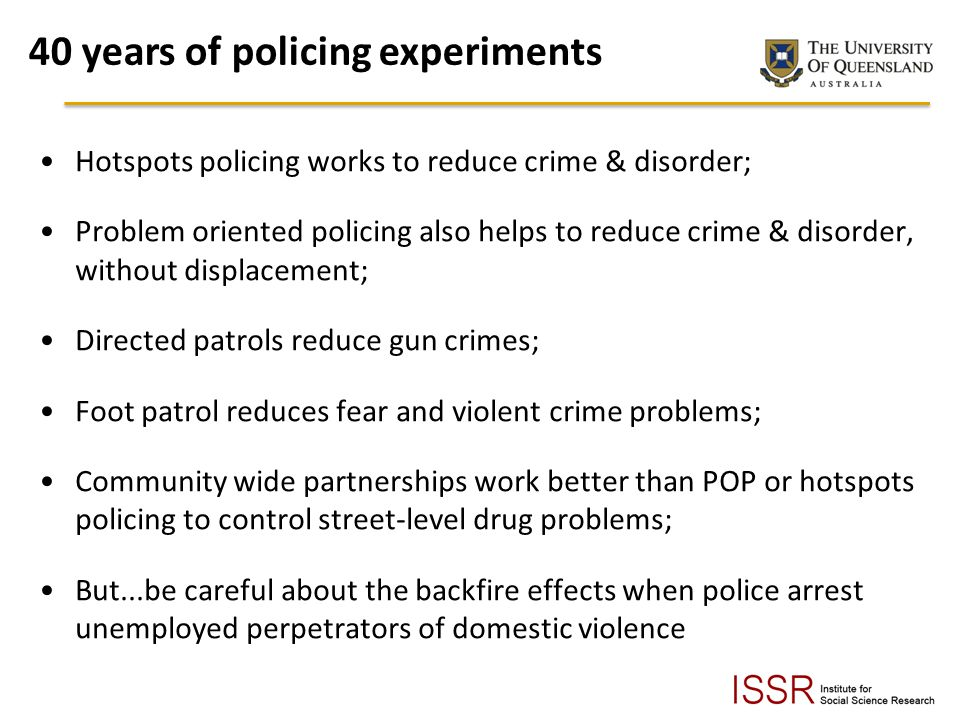 40 years of policing experiments