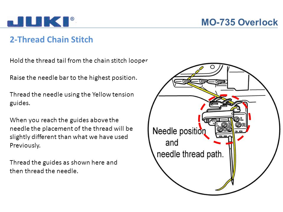 MO-735 Overlock 2-Thread Chain Stitch