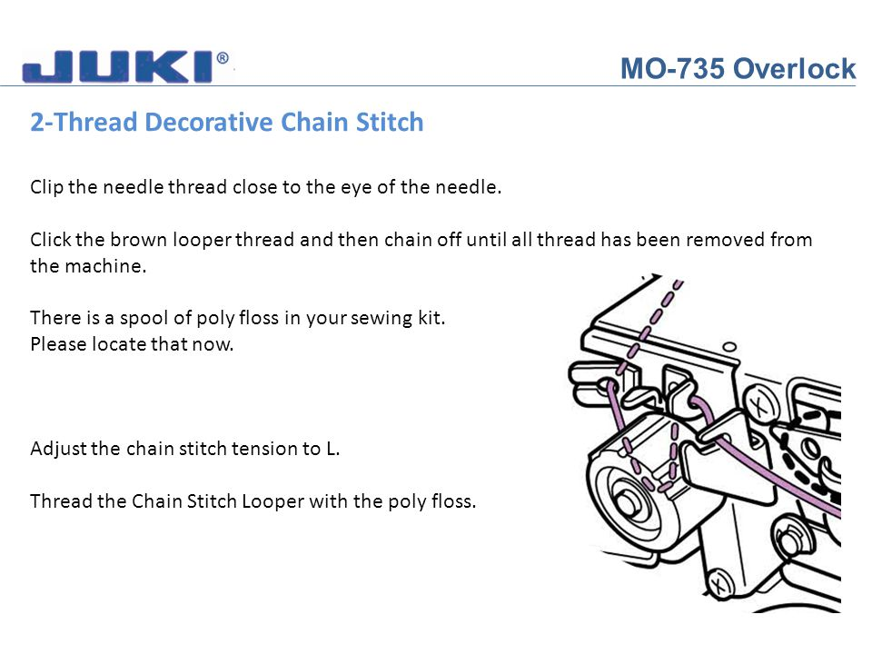 2-Thread Decorative Chain Stitch