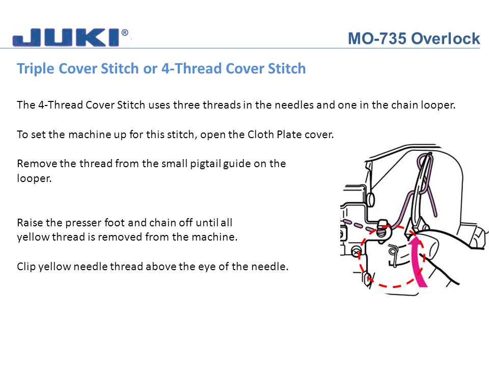 Triple Cover Stitch or 4-Thread Cover Stitch