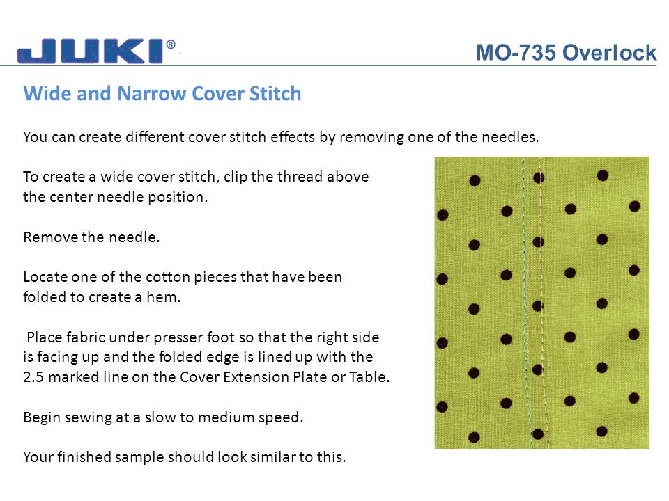 Wide and Narrow Cover Stitch