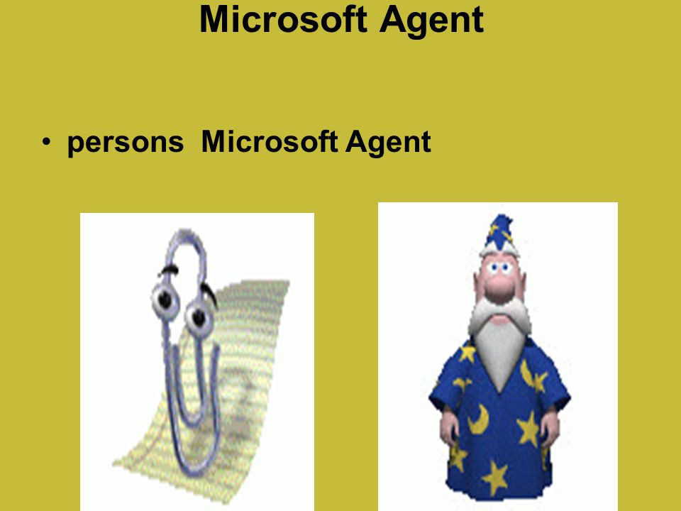 Microsoft Agent persons Microsoft Agent