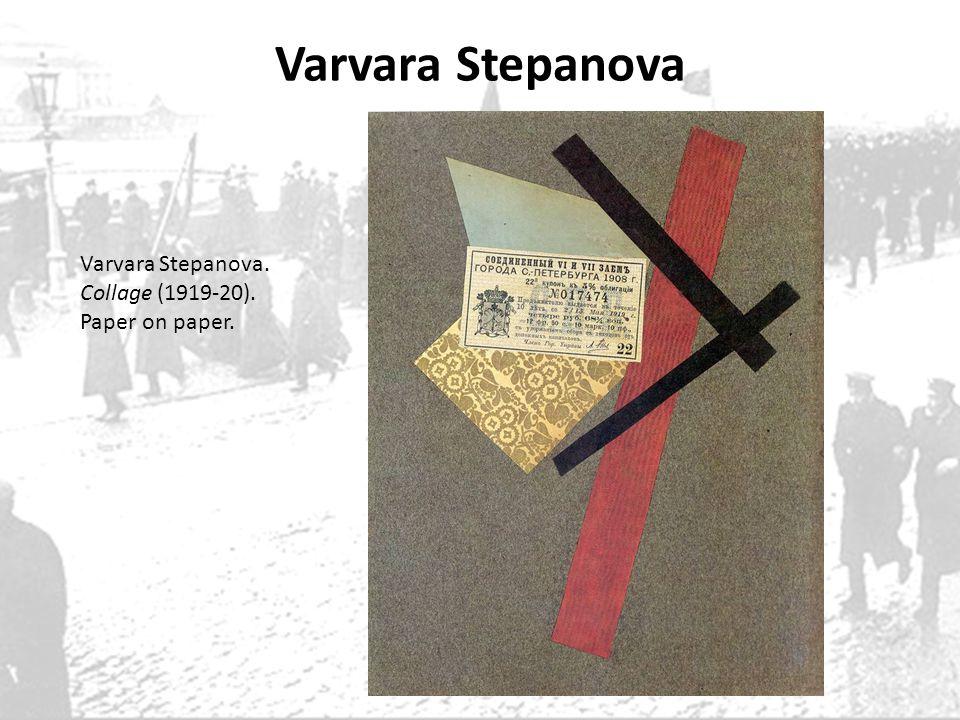 Varvara Stepanova Varvara Stepanova. Collage (1919-20).