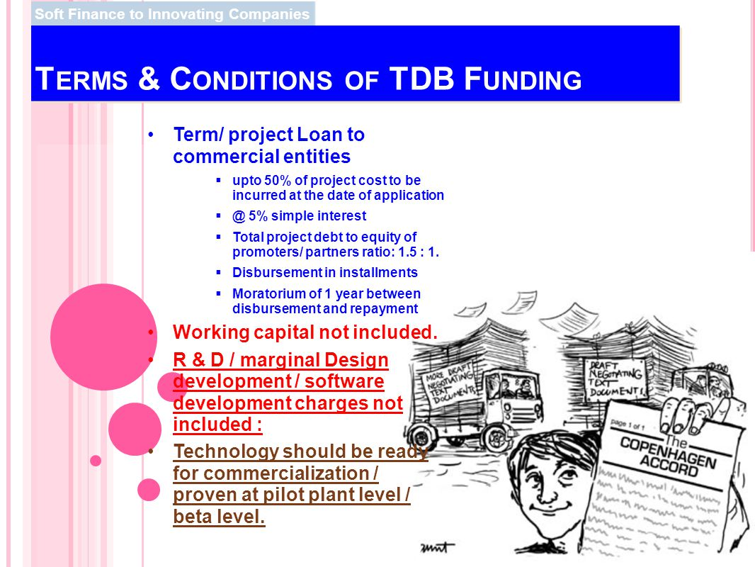 Terms & Conditions of TDB Funding