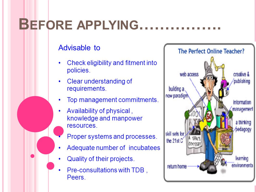 Before applying……………. Advisable to