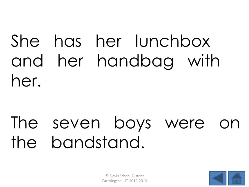 She has her lunchbox and her handbag with her.