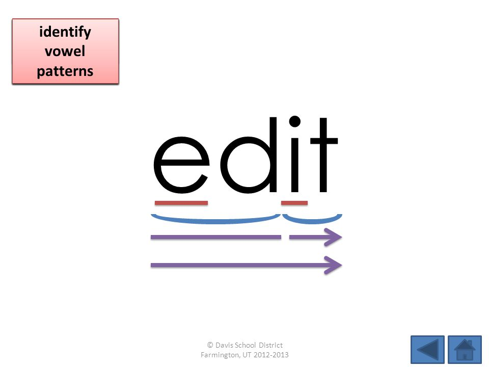 edit identify vowel patterns blend individual syllables