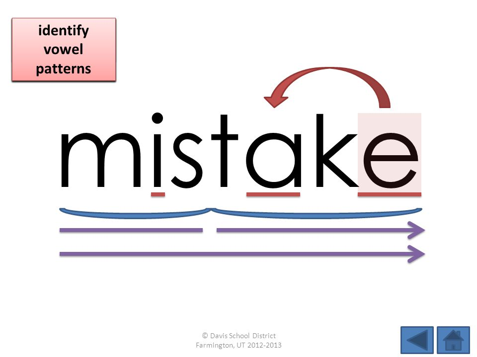 mistake identify vowel patterns blend individual syllables