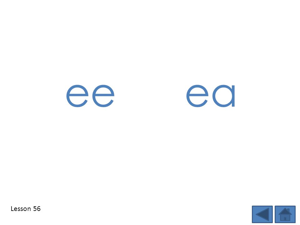 ee ea Step 1: Show students the DSD targeted phonics element(s) of the day and tell students the sound.