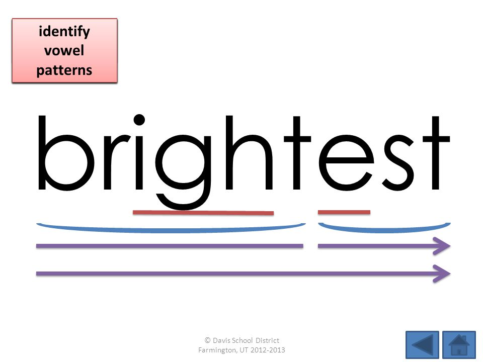 brightest identify vowel patterns blend individual syllables