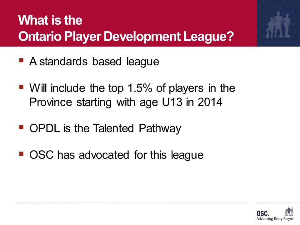 What is the Ontario Player Development League
