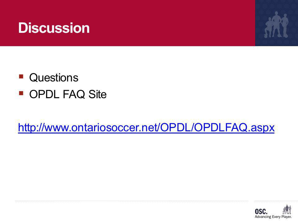 Discussion Questions OPDL FAQ Site