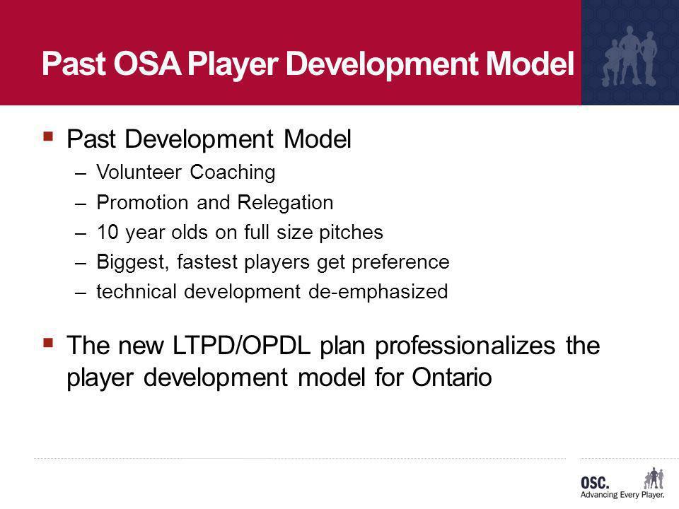 Past OSA Player Development Model