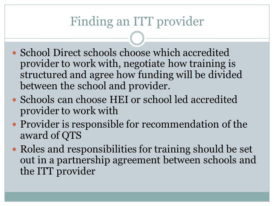 Finding an ITT provider