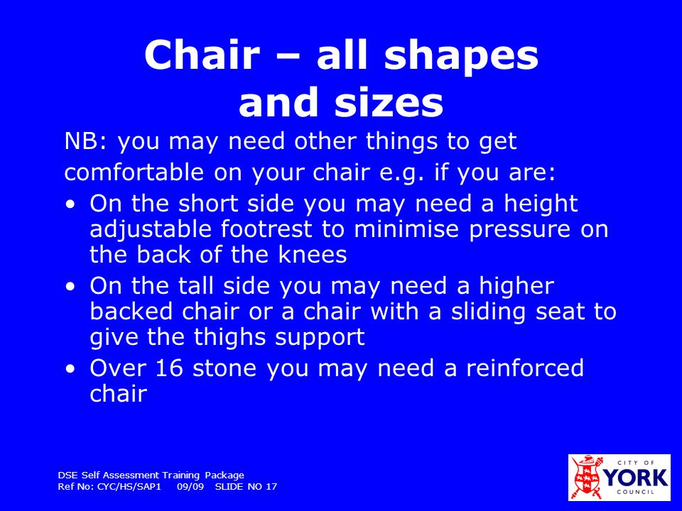 Chair – all shapes and sizes