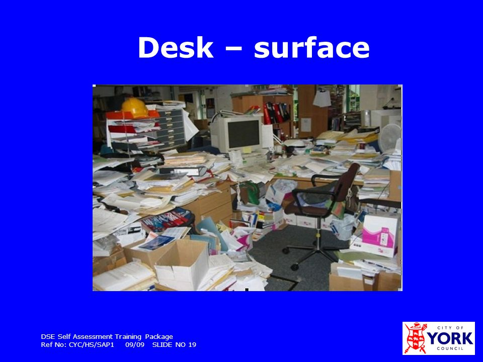 Desk – surface DSE Self Assessment Training Package