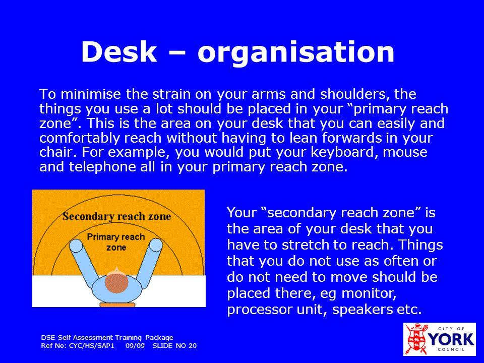 Desk – organisation