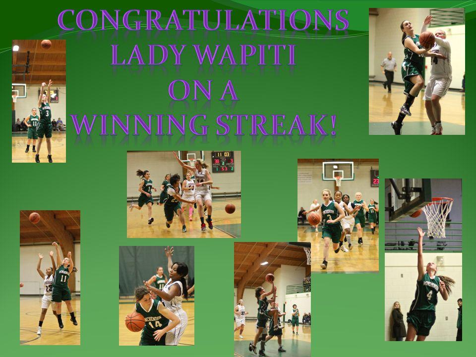 Congratulations Lady Wapiti On A Winning Streak!