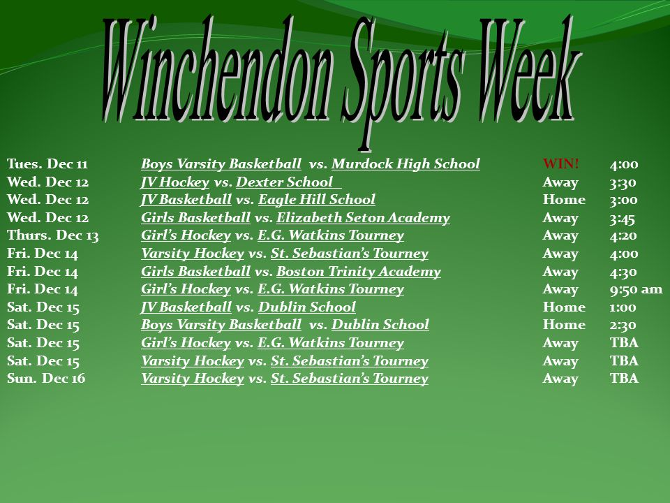 Winchendon Sports Week