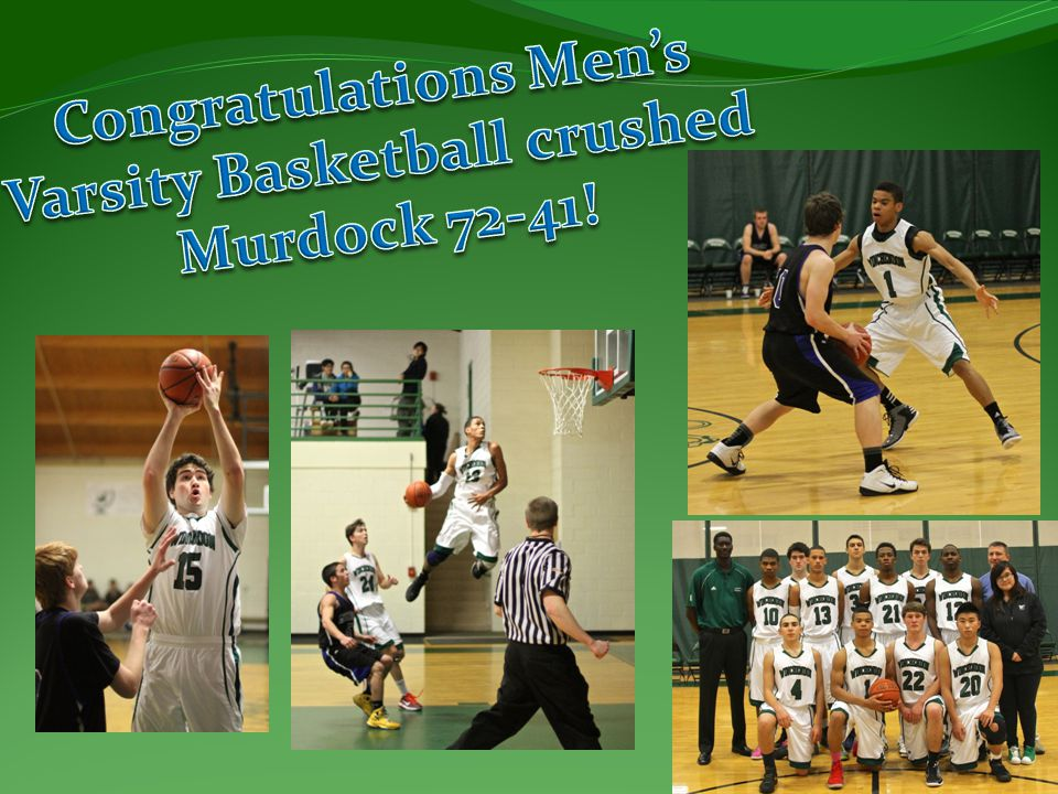 Congratulations Men's Varsity Basketball crushed
