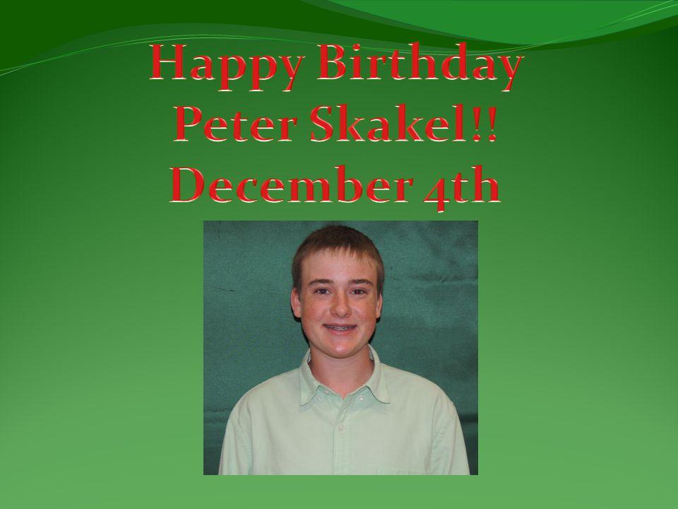 Happy Birthday Peter Skakel!! December 4th