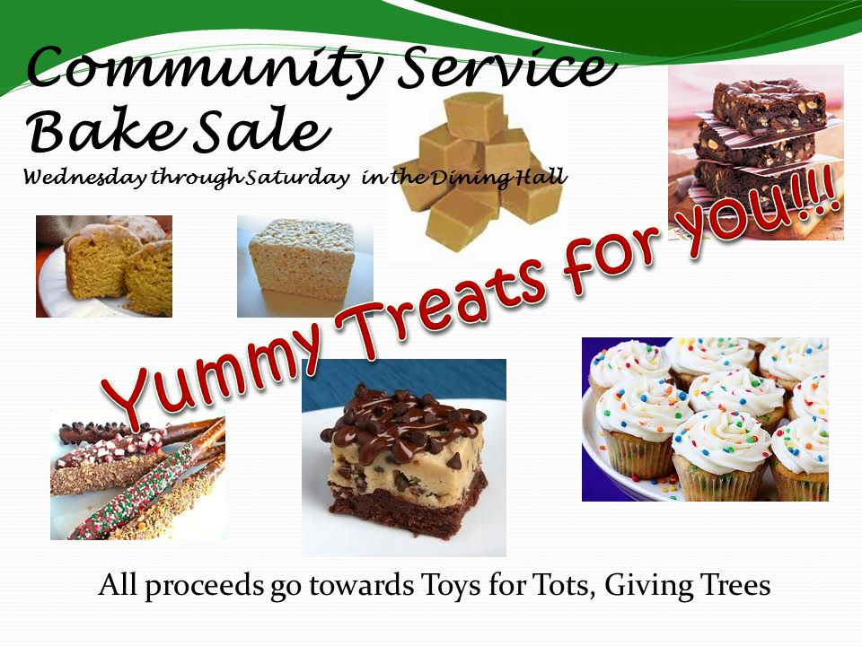 All proceeds go towards Toys for Tots, Giving Trees